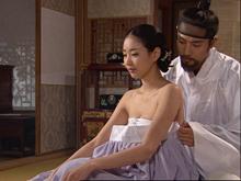 韩国小姐冠军金沙朗与高周元演古装床戏